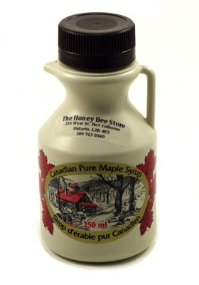 Medium Grade Maple Syrup In A 250 Ml Plastic Bottle
